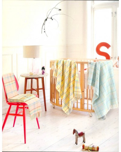 Plaid 100% lambswool Baby Lettino - Dolcezza